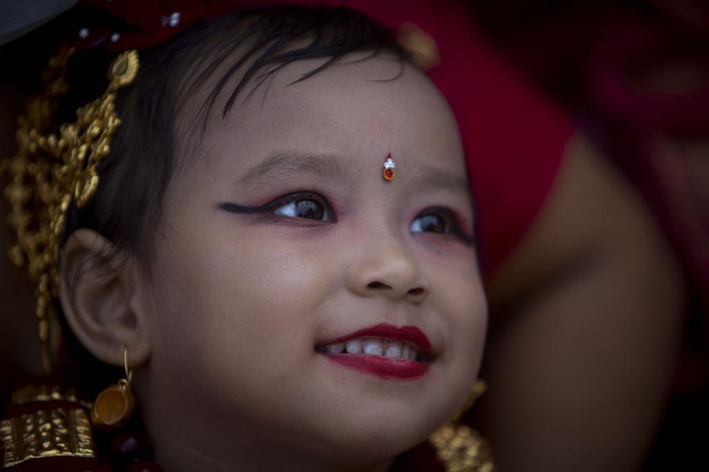 Festival Indra Jatra en Katmandú, Nepal