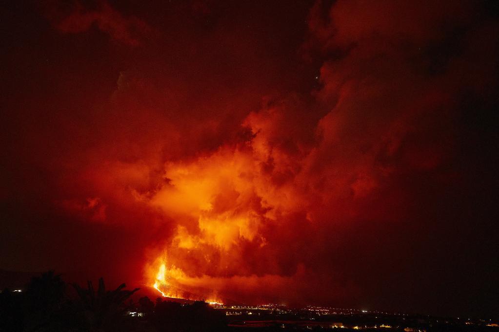 Intensificación de actividad eruptiva del volcán Cumbre Vieja en la isla de La Palma, España