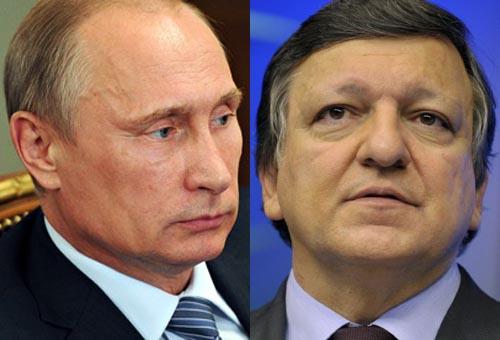 Barroso y Putin hablan sobre situación en Ucrania